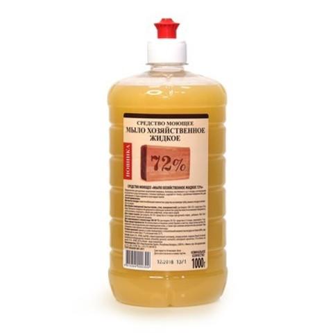 Рябина Средство моющее Мыло жидкое хозяйственное 72%  1000мл.