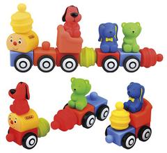 K's Kids Мягкий конструктор Popbo Blocs™ «Поезд друзей» (KA654)