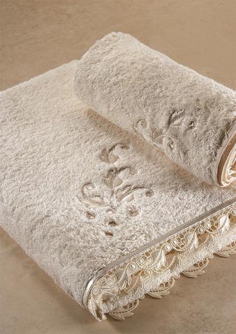 NAKKAS DANTELLI полотенце махровое Soft Cotton (Турция)