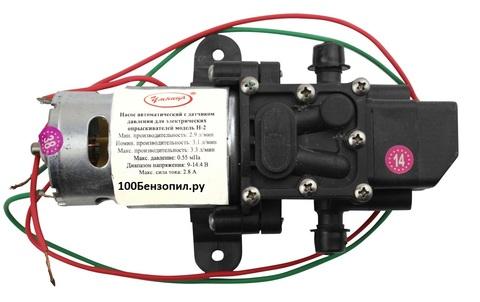 Насос автоматический с датчиком давления для опрыскивателей  ОЭ-12 модель Н-2  (В СБОРЕ С ДВИГАТЕЛЕМ)
