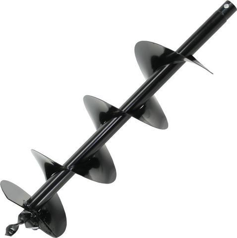 Шнек однозаходный для грунта DDE мотобура (ф = 100 мм, L = 800 мм, посадка на вал 20 м (SGA-100/800)