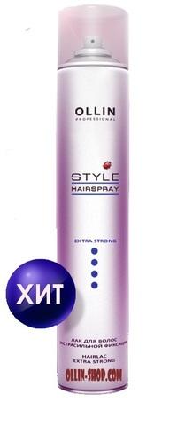 OLLIN STYLE Лак для волос экстрасильной фиксации 450мл./ Hairlac Extra Strong