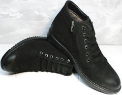 Модные ботинки мужские из натуральной кожи зимние Luciano Bellini 71783 Black.