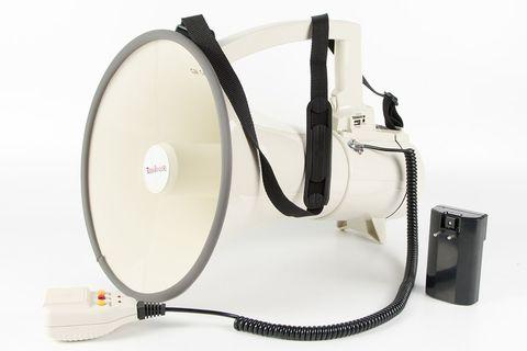 ER-57RUS Мощный электромегафон 40Вт с сиреной, записью, USB/SD/mp3, Li аккумулятор