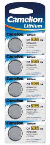 Батарейки Camelion CR 2032, 3V, 5 BL