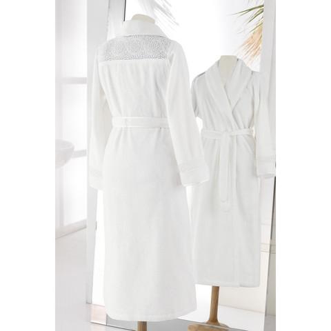 QUEEN КВИН кремовый махровый женский халат Soft Cotton (Турция)