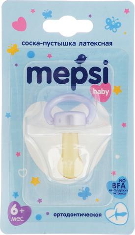 Соска-пустышка латексная 6+ (ортодонтическая) Mepsi