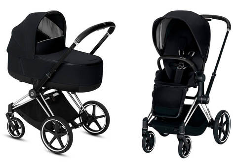 Детская коляска Cybex Priam III 2 в 1 Premium Black шасси Matt Black