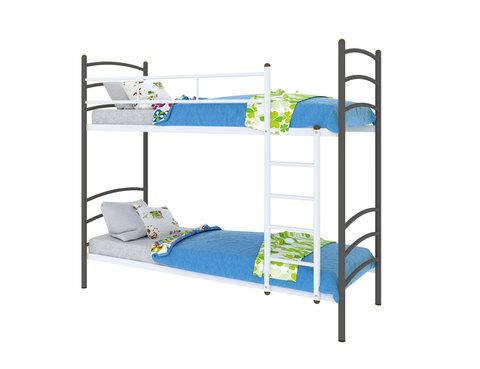 Двухъярусная кровать Милана Duo металлическая 80х190 МилСон черный
