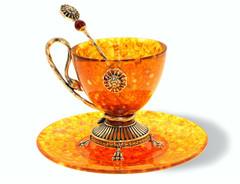 "Янтарная чашка для чая, серия ""Лев"""