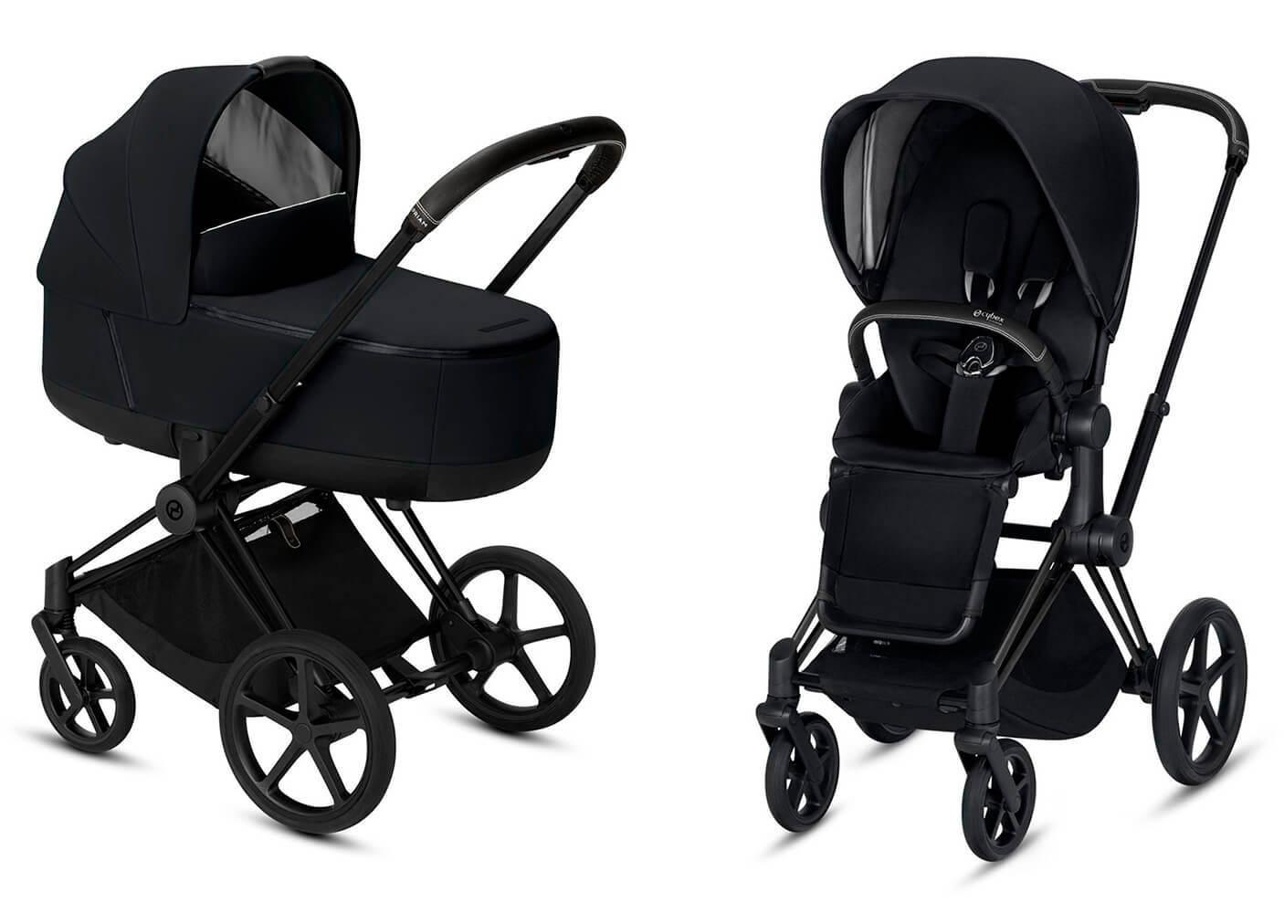 Цвета Cybex Priam 2 в 1 Детская коляска Cybex Priam III 2 в 1 Premium Black шасси Matt Black cybex-priam-iii-2-in-1-premium-black-matt-black.jpg