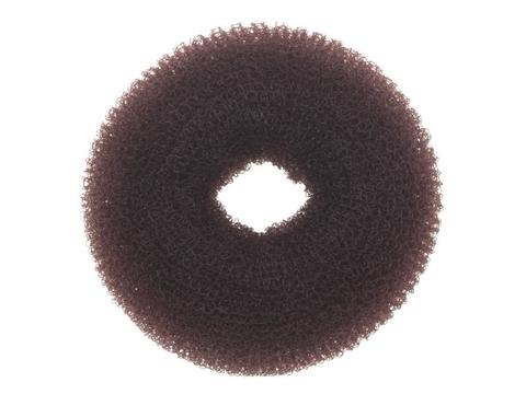 Валик круглый коричневый, для волос сетка, d 10 см