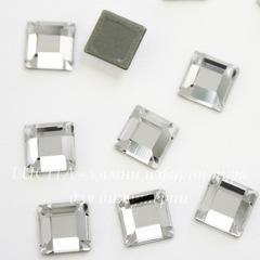 2400 Стразы Сваровски горячей фиксации квадратные Crystal (6 мм)