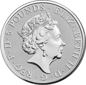 5 фунтов. Звери Королевы — Сокол Плантагенетов. Великобритания. 2019 год