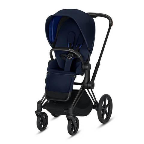 Прогулочная коляска Cybex Priam III Indigo Blue шасси Matt Black