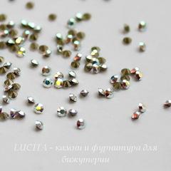 1028 Стразы Сваровски Crystal AB PP 6 (1,3-1,35 мм), 20 штук