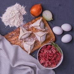 Манты с бараниной и говядиной / 500 г
