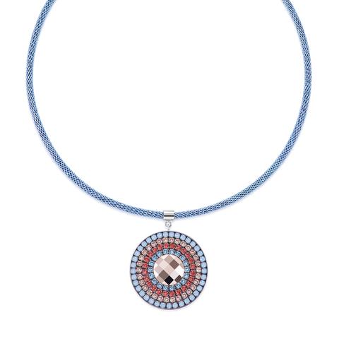 Колье Coeur de Lion 4954/10-2003 цвет красный, голубой