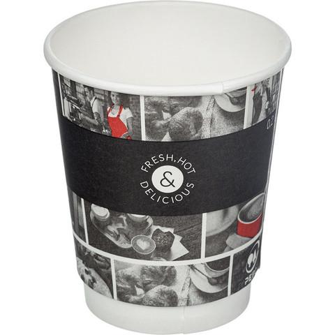 Стакан одноразовый Cafe Noir бумажный разноцветный 250 мл 26 штук в упаковке