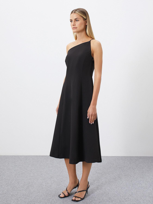 Платье Mirel с асимметричным верхом, Черный