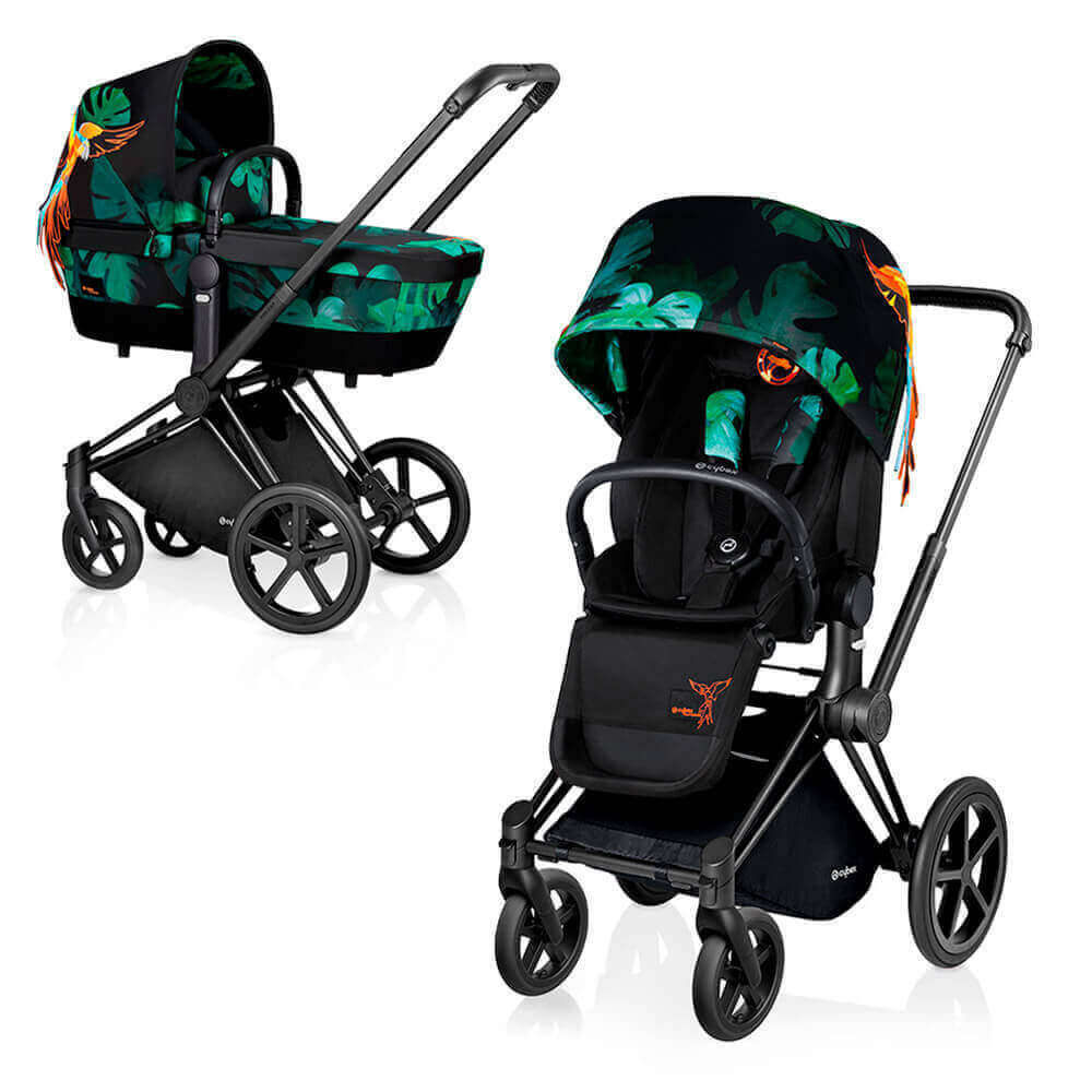 Цвета Cybex Priam 2 в 1 Детская коляска Cybex Priam Lux 2 в 1 Birds of Paradise шасси Matt Black/Trekking cybex-priam-birds-of-paradise-black.jpg