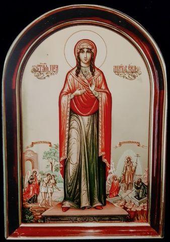 Икона святая Ева на дереве на левкасе мастерская Иконный Дом