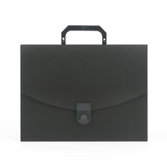 Папка-портфель Attache пластиковая A4 черная (240x317 мм, 1 отделение)