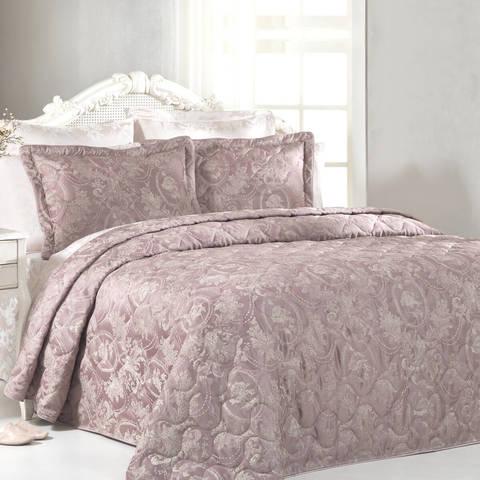 Покрывало GRANT розовый  260х260  TIVOLYO HOME Турция
