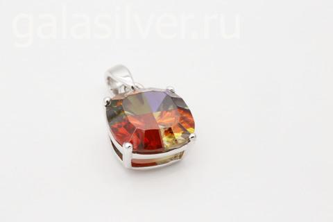 Подвеска с фианитом из серебра 925