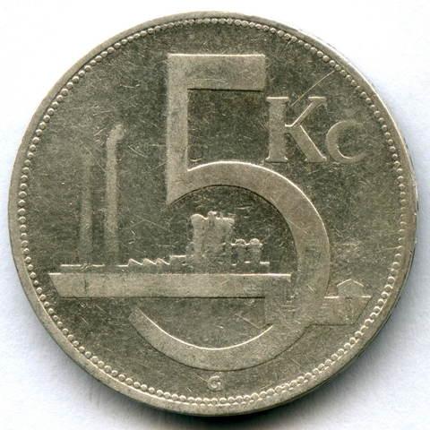 5 крон 1931. Чехословакия F-.