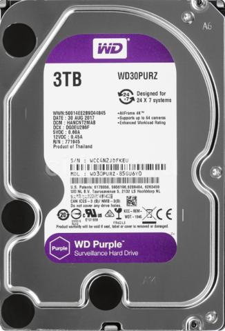 Жесткий диск WD Purple [WD30PURZ] 3 ТБ