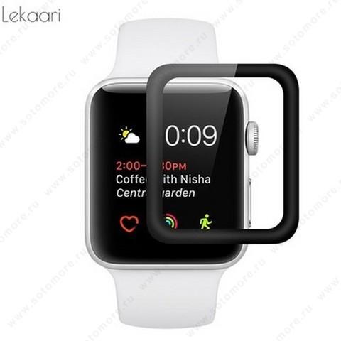 Пленка защитная для Apple Watch 42 mm с черной рамкой