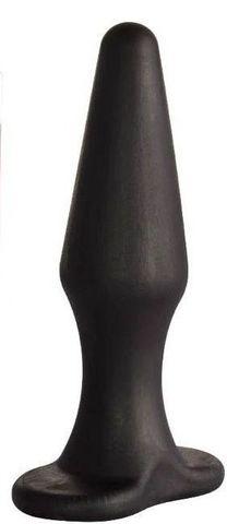 Черная коническая анальная пробка Comfort - 10,6 см.
