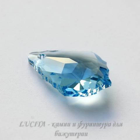 6090 Подвеска Сваровски Baroque Aquamarine (16х11 мм)