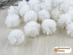 Помпоны из фатина белые 20 мм