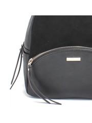Рюкзак черный из комбинированной кожи