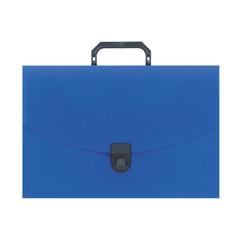Папка-портфель Attache пластиковая A4 синяя (250x370 мм, 1 отделение)