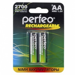 Аккумуляторы Perfeo R6, AA 2700mAh Ni-MH