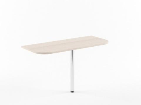 XKD 166+ВТ-710 Приставка к столу с опорой (1606х600х750)