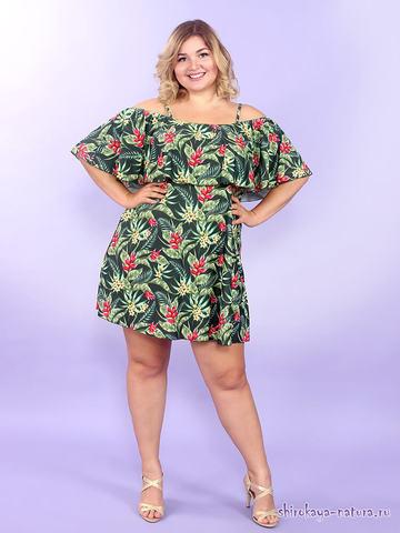 Купальное платье Тропический остров