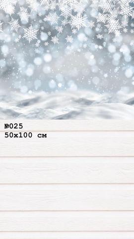 Фотофон виниловый стена-пол «Снежинки» №025