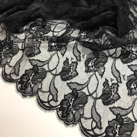 Кружевное полотно SH Черный тюльпан 851813.22