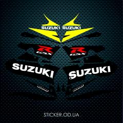 Набор наклеек Suzuki gsx-r 600 2003, черно - желтый пластик