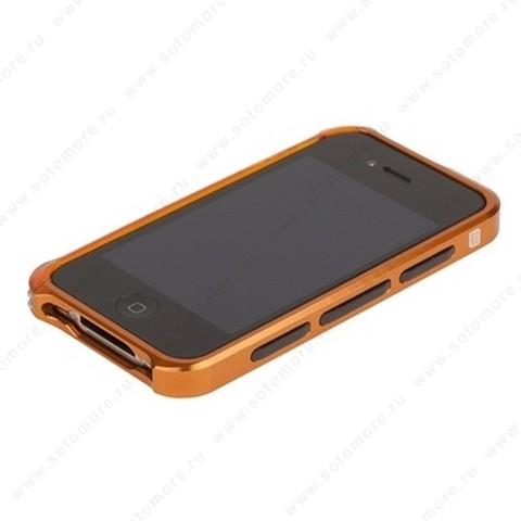 Бампер ELEMENT CASE Vapor 4 алюминиевый для iPhone 4s/ 4 оранжевый