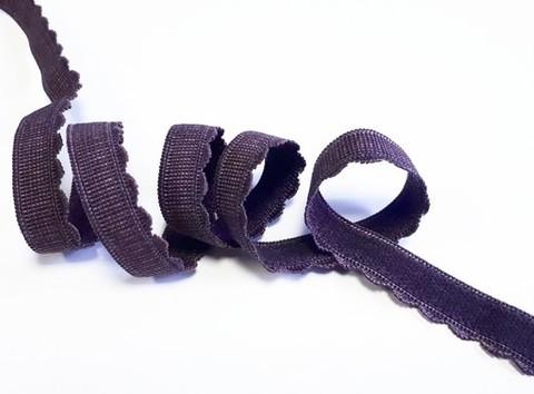 Отделочная резинка, с фестоном, 12мм, Шоколад, (Арт: OTR605/12-111), м