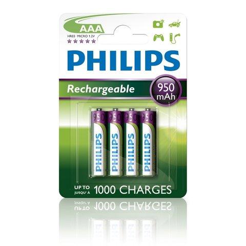 Аккумуляторы Philips MultiLife Ni-MH R03 (900mAh) 4шт.