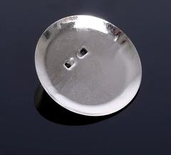 Основа для броши круглая с булавкой, 5 шт, металлическая.