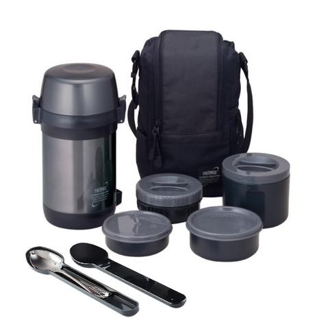 Термос для еды многофункциональный Thermos JLS-1601 Food (1,6 литра), черный
