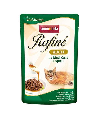 Animonda Rafine Adult пауч для кошек (с говядиной, мясом гуся и яблоком) 100 г