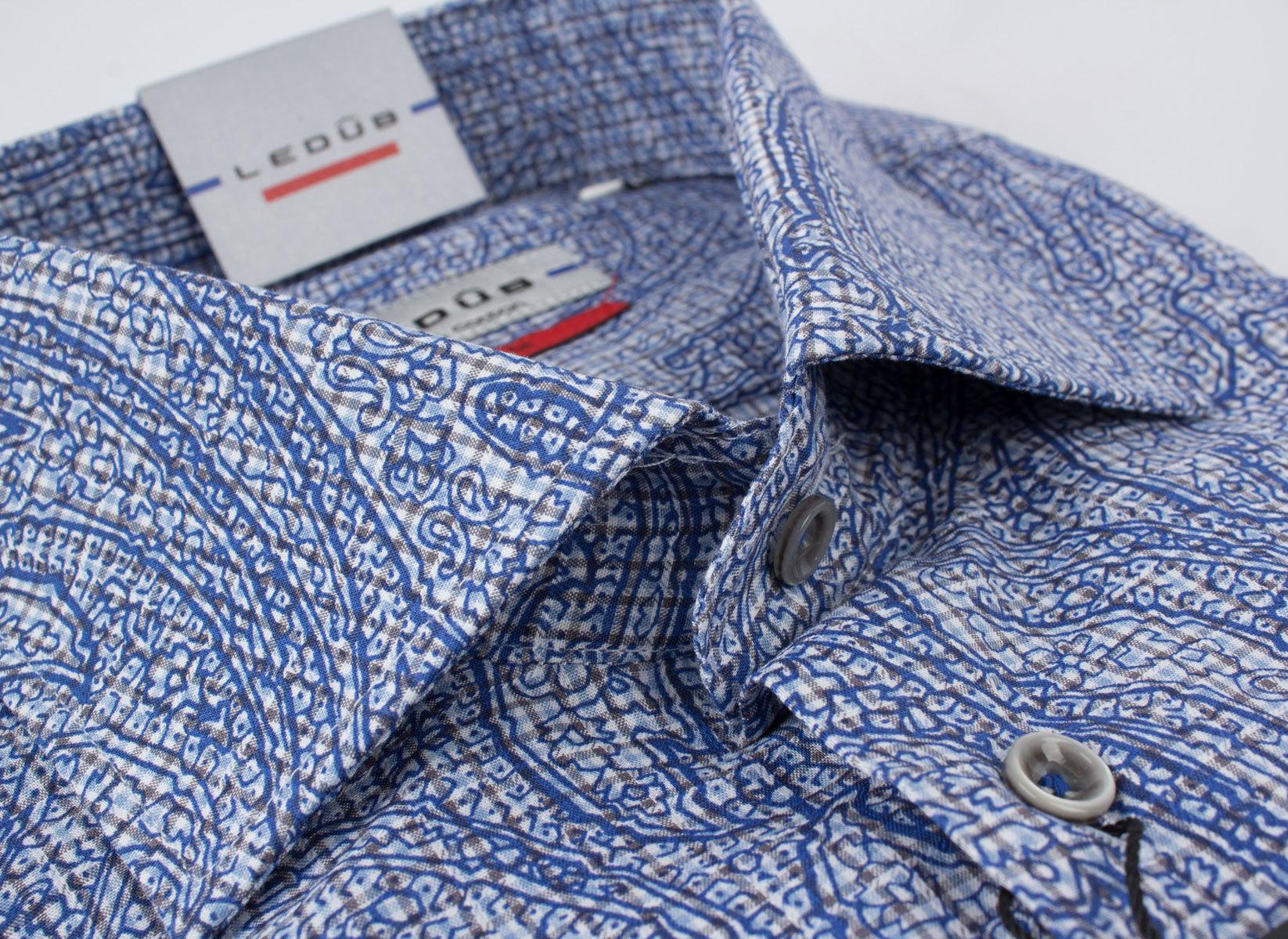 Рубашка Ledub slim fit 0135735_170-000-000-SF-Blue